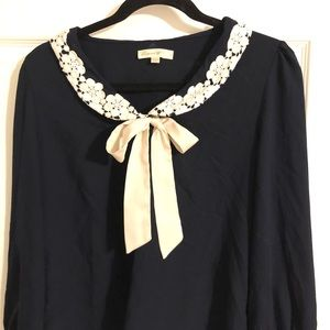 Conne toi Tops - Navy Blouse